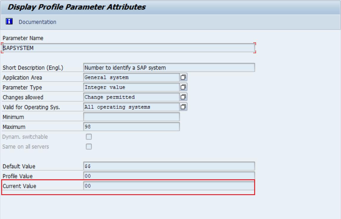 Display Profile Parameter Attribute