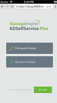 ADSelfService Plus Mobile WebApp