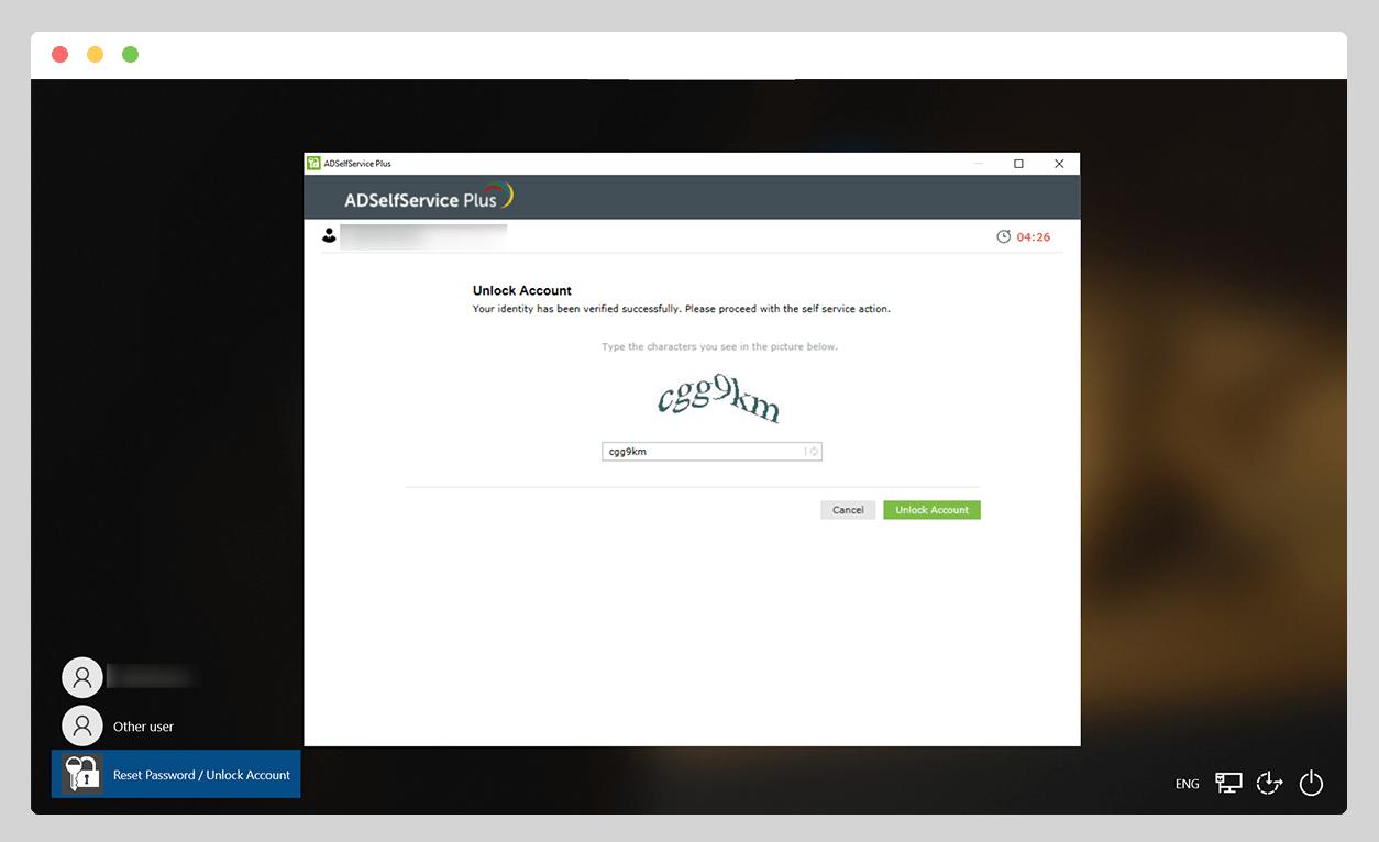 Unlock Account button
