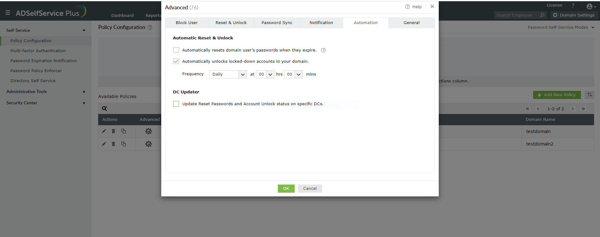 Automate account unlocks