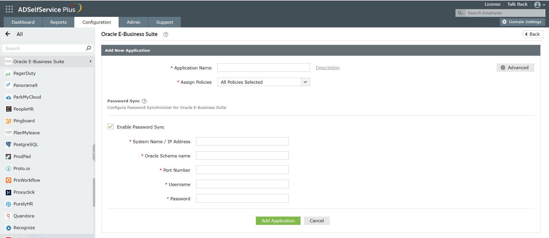 Configure Oracle E-Business Suite