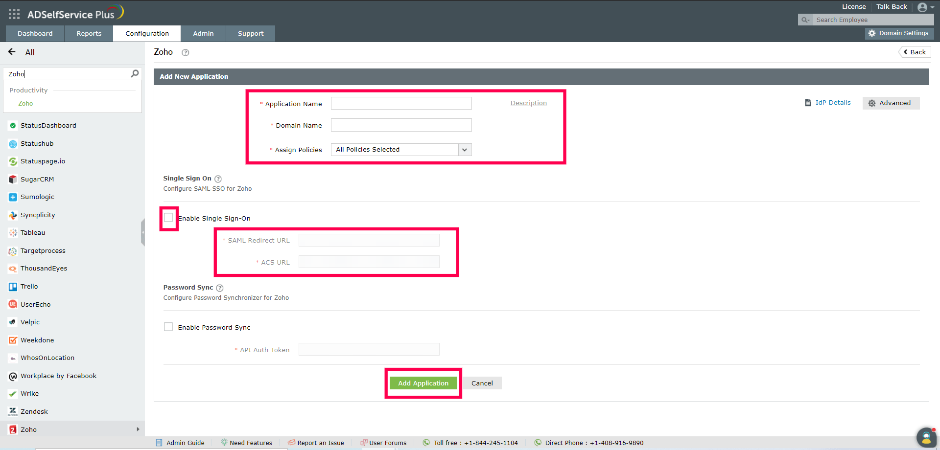 configure-single-sing-on-with-zoho
