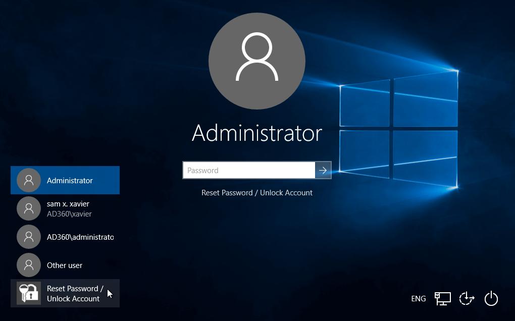 Self-Service Password Reset/Account Unlock via Windows Logon