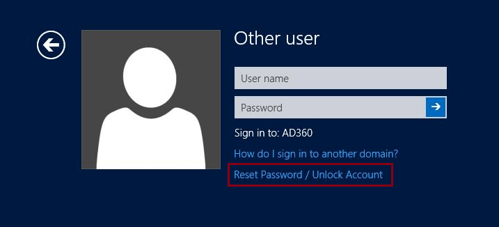 Self-Service Password Reset/Account Unlock via Windows Logon