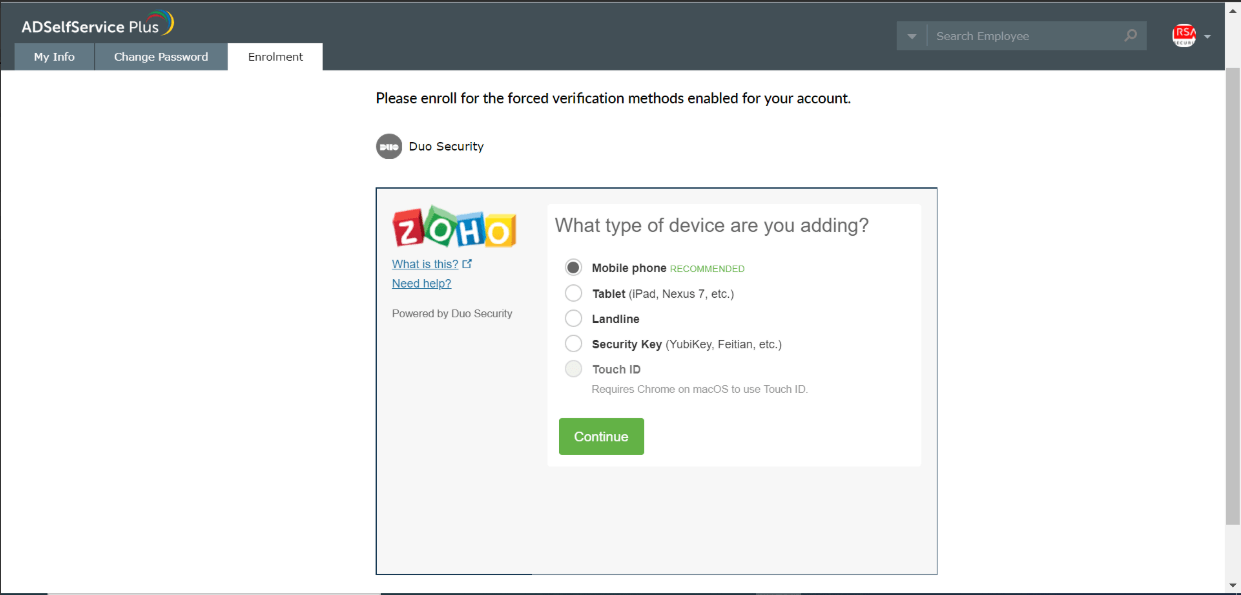 Multi Factor Authentication with Duo Security for Active Directory