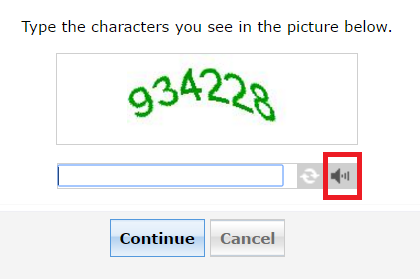 Logon Setting captcha