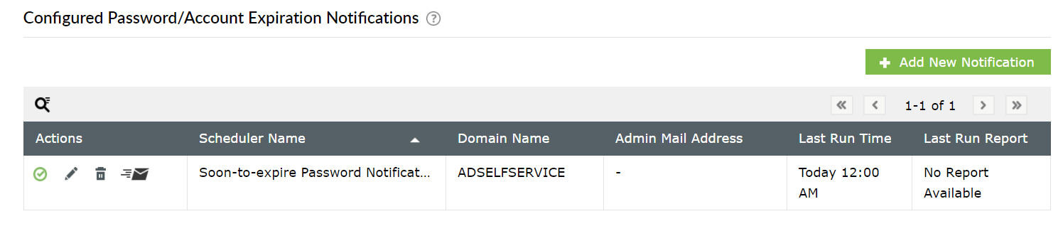 set up email notifications for password expiration