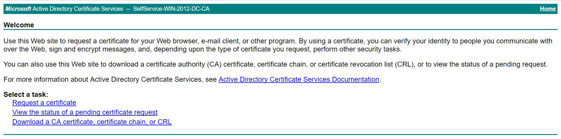 Self signed ssl certificate installation click request a certificate advanced certificate request xflitez Image collections