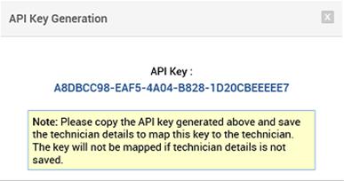Sample API Key