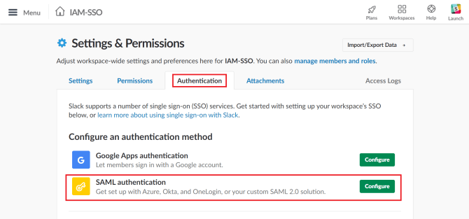 slack-saml-authentication-configuration