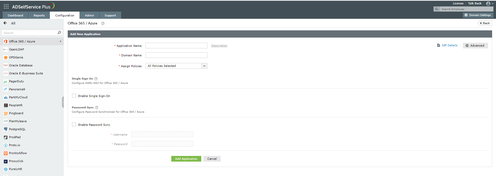 AD to Azure AD password sync configuration