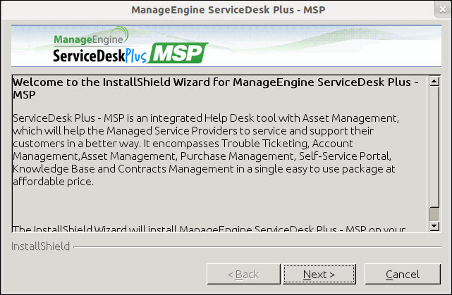 How to install ServiceDesk Plus MSP on Linux machines