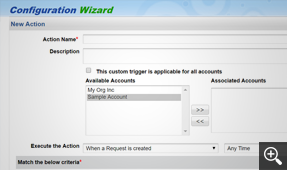 Custom triggers to invoke an action on external applications
