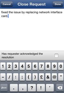 Aplicación MSP Iphone de la mesa de ayuda