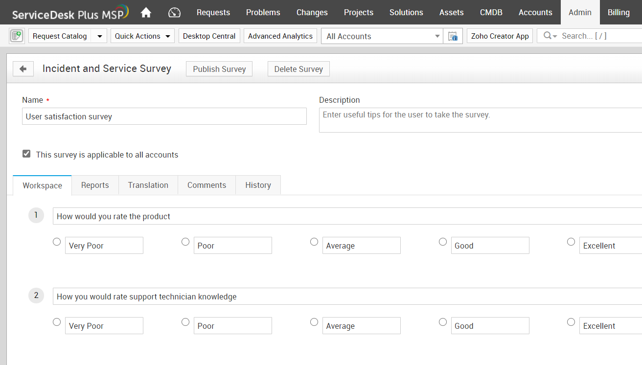 MSP customer survey