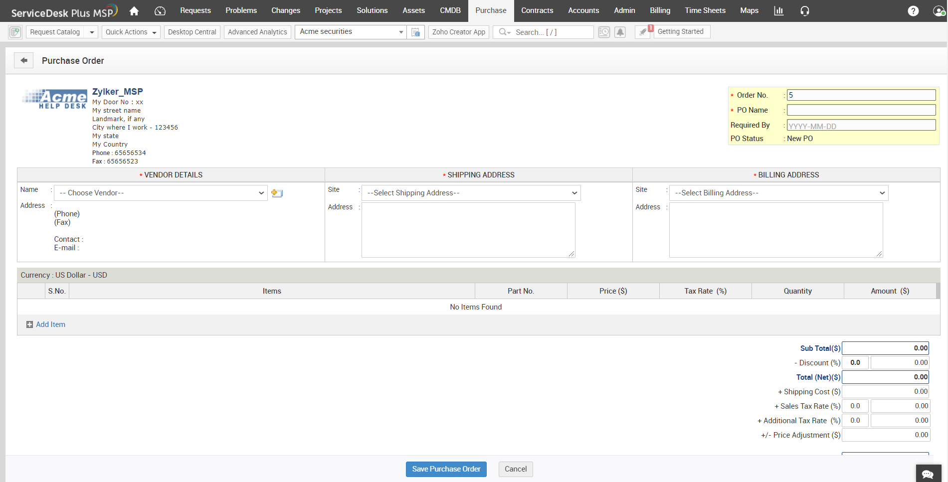 Automated purchase orders