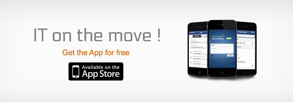 iPhone App Mobile Help Desk Application ManageEngine