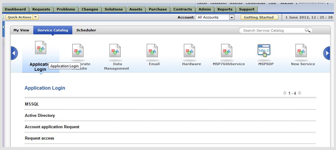 Itil Service Catalog Manageengine Servicedesk Plus Msp