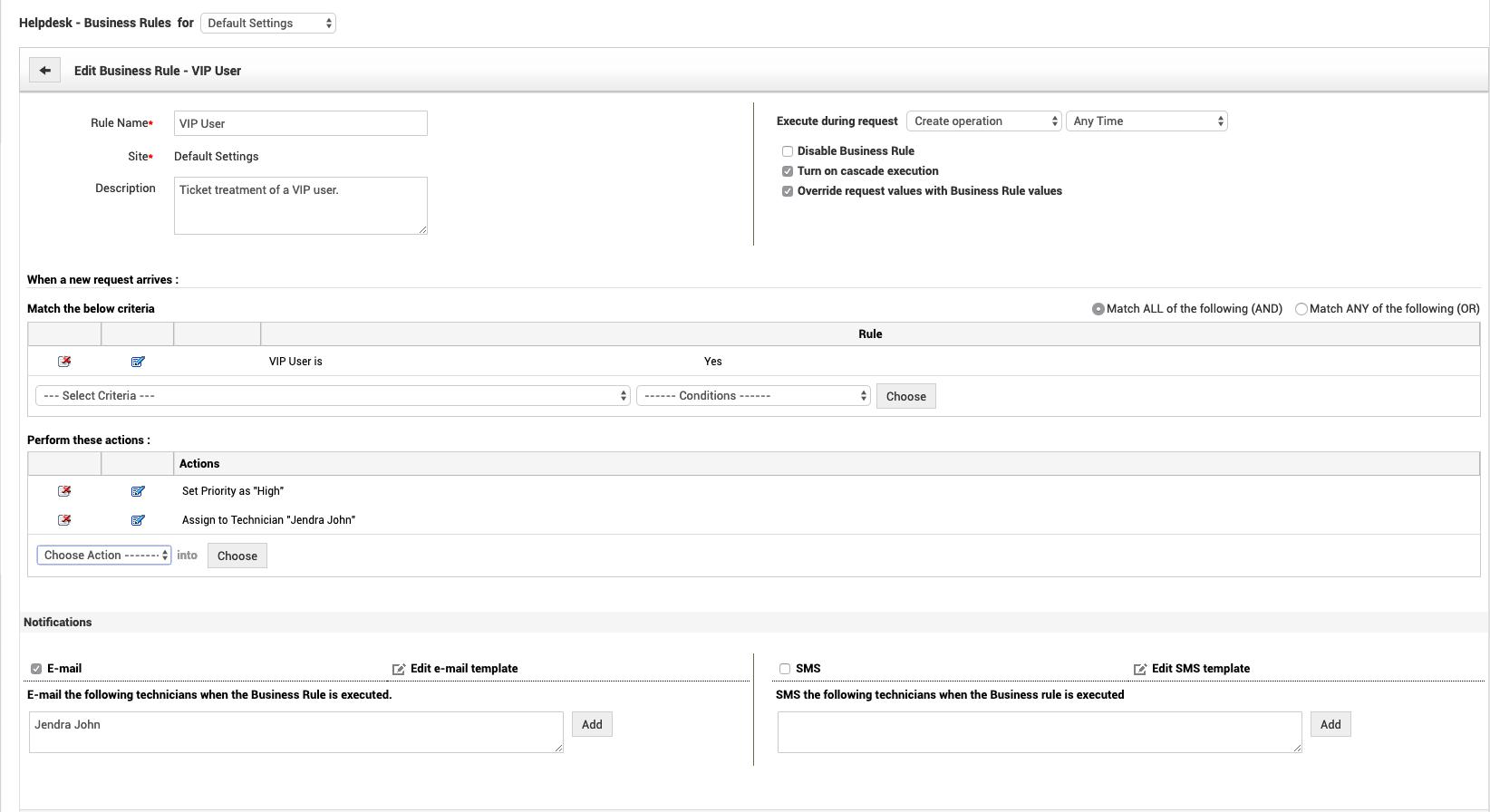 Automatización de la mesa de servicio: reglas de tickets