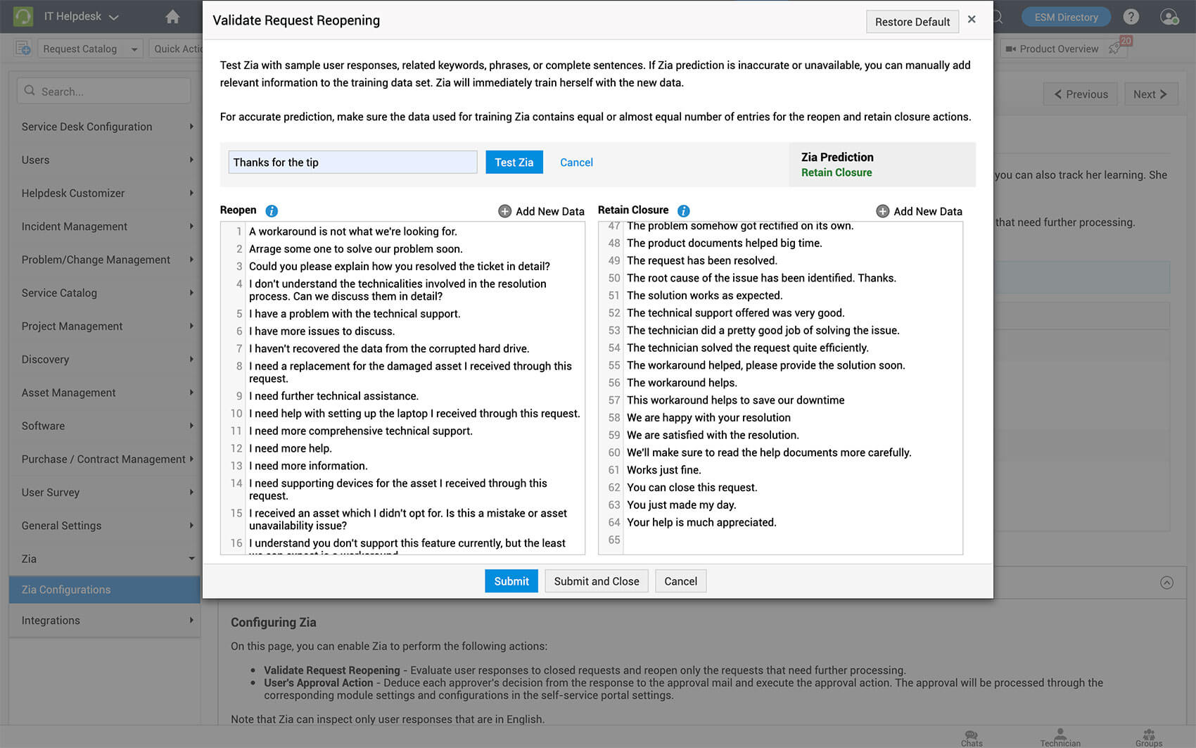 Update ServiceDesk Plus latest version - Avoid reopening tickets