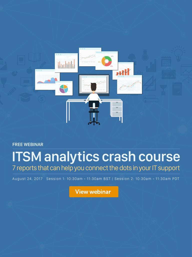 Free ITSM analytics webinar