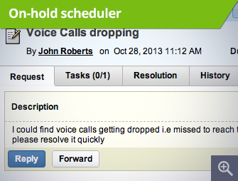 On-hold scheduler