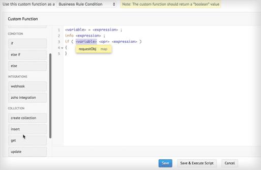 solicitar constructor de funciones personalizadas