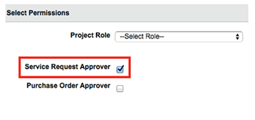 Service request approver