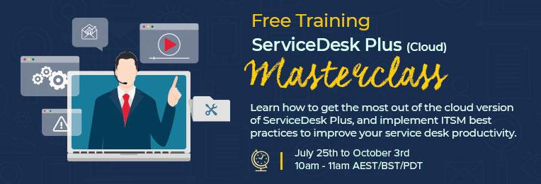 ServiceDesk Plus masterclass cloud