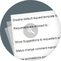 Request status comments