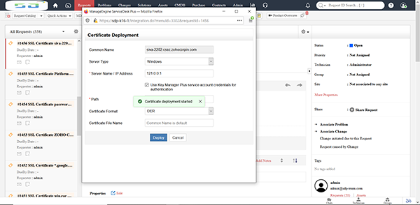Integrate with telephony servers