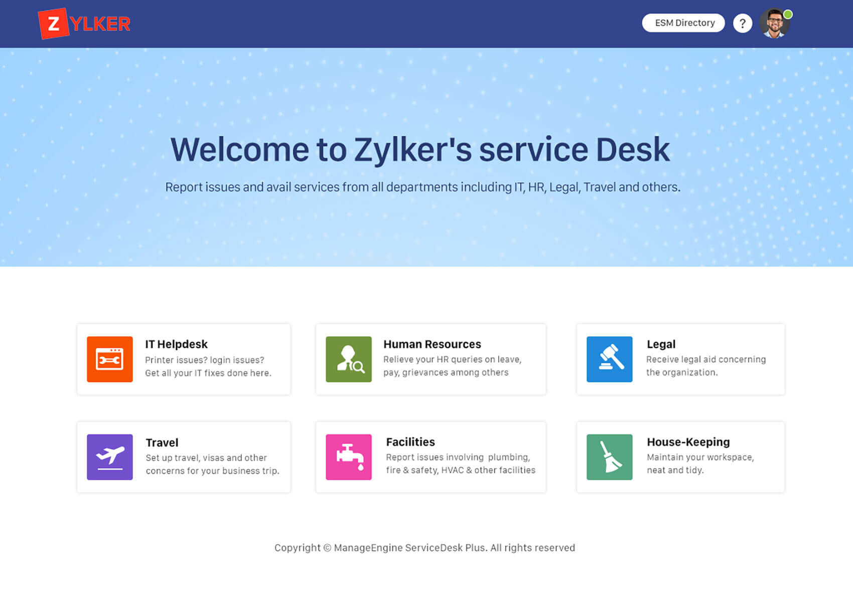 Customer service help desk system for hospitality