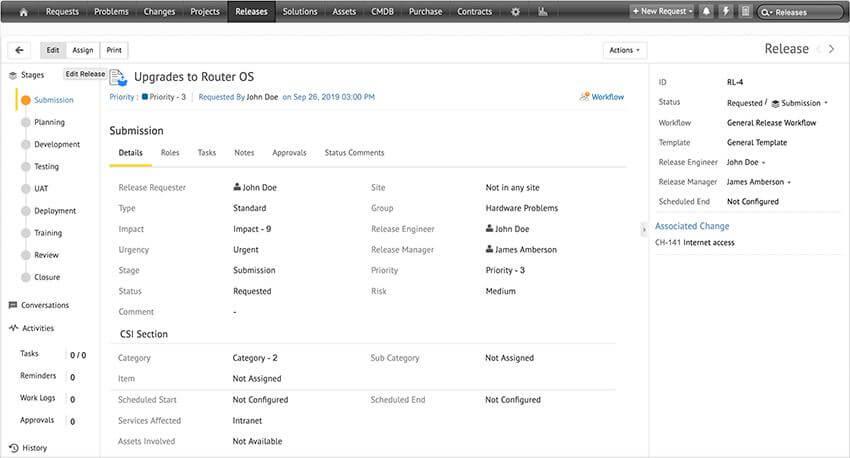 IT release management process