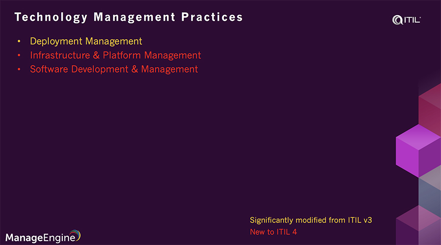 Technical management practice in ITIL