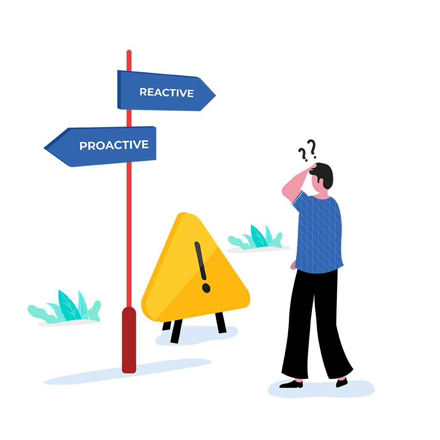 Reactive vs proactive problem management