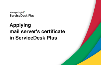 Apply mail server certificate