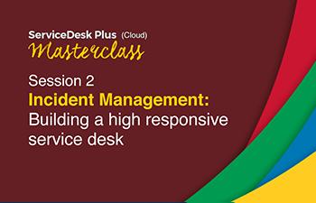 Cloud responsive service desk