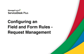 Steps to configure field and form rules