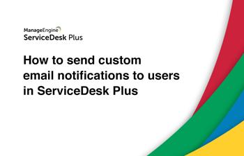 Custom helpdesk email notifications