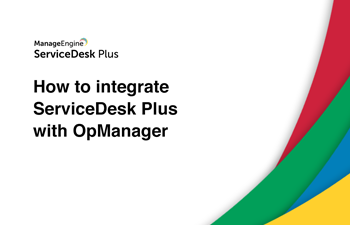 Integrate help desk with network monitoring software