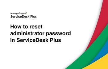 Reset help desk administrator password