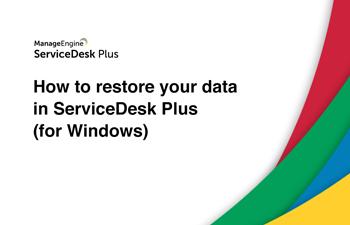 Restore help desk data
