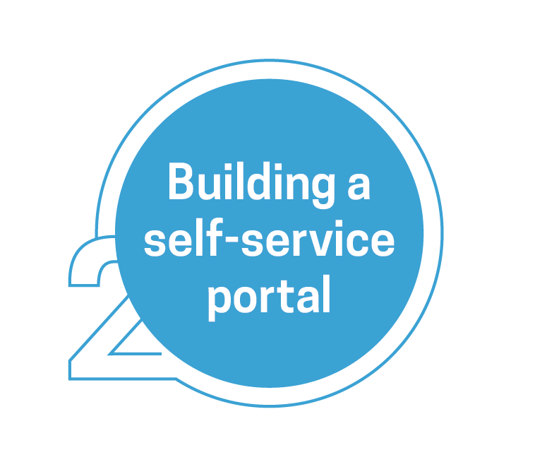 Web self service portal