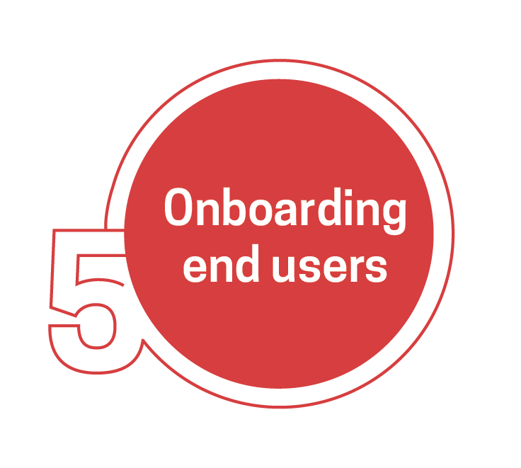 Onboarding end users