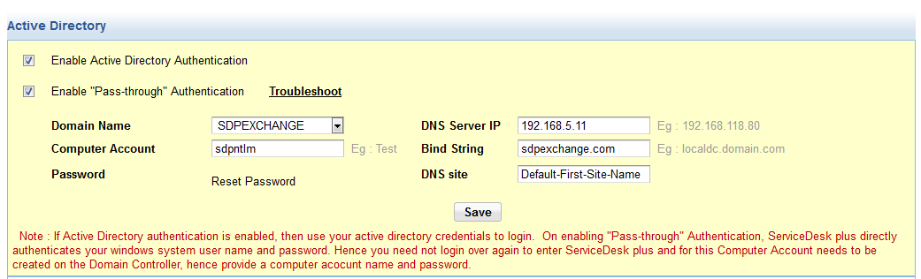 Active directory SSO
