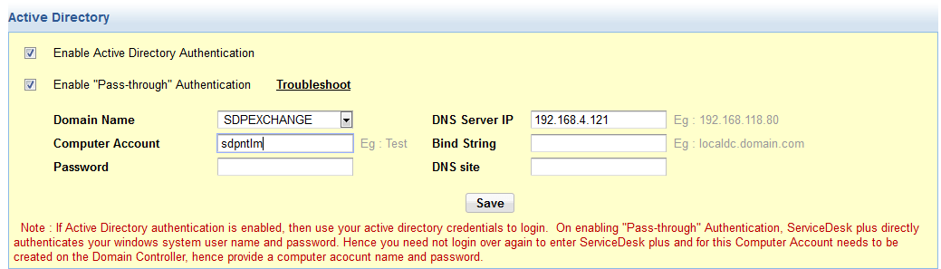 NTLM security authentication