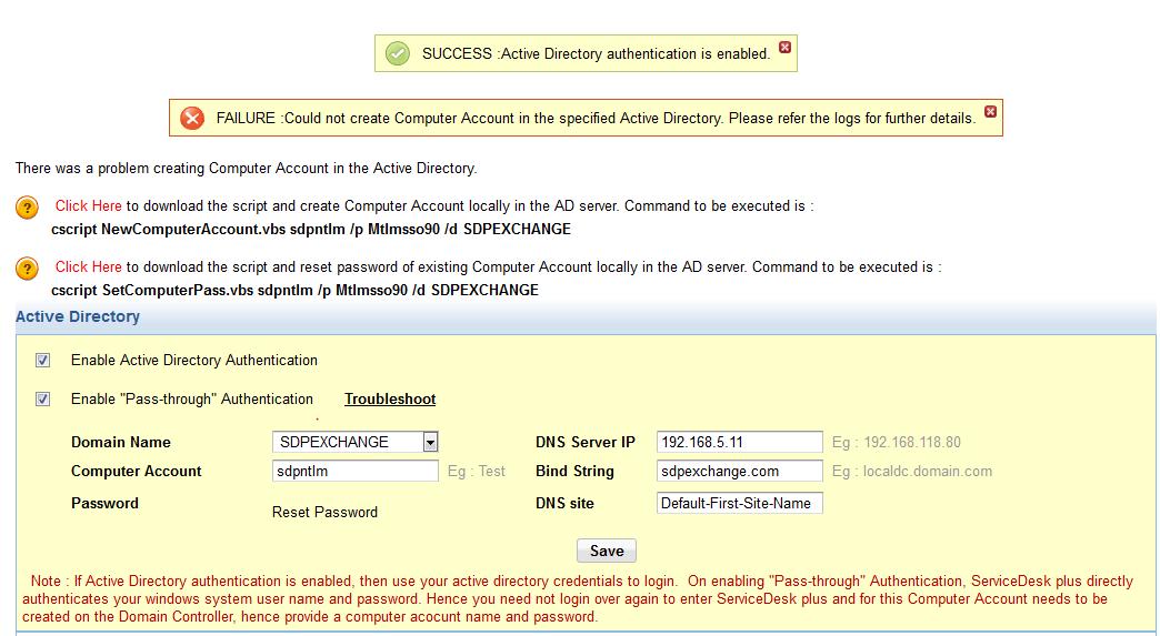 ServiceDesk Plus SSO configuration