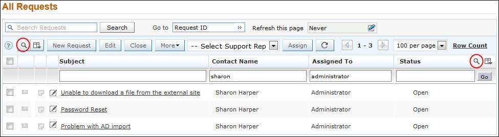 request-column-search