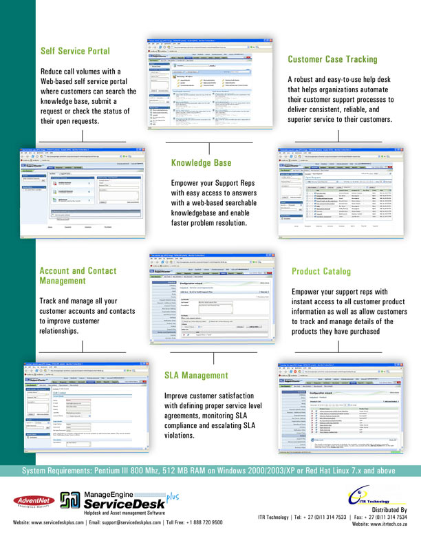 SupportCenter Brochure - HTML Version