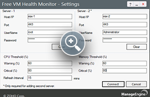 VM Monitoring - ManageEngine Free Tools